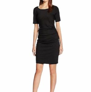 - Kaffe Black Midi Sheath Dress Size Medium